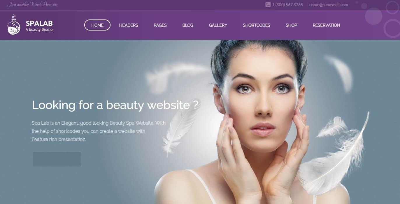 Spa Lab Spa Beatuy Salon WordPress