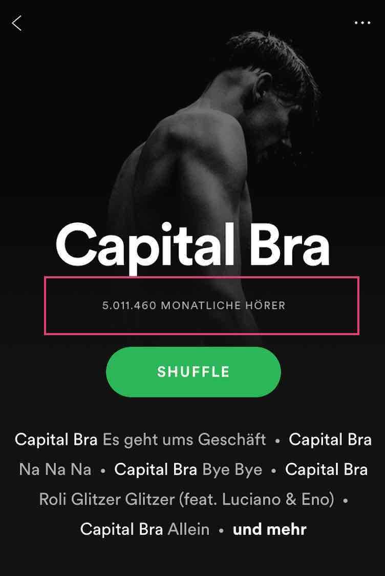 Capital Bra Verdienst Spotify Streams