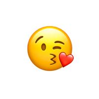 Herz mit bedeutung kuss smiley Emoji Bedeutung: