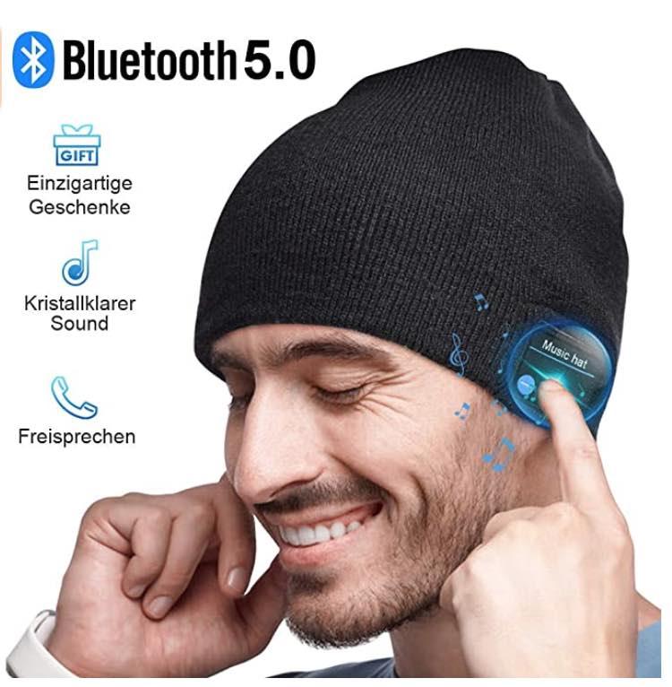 Bluetooth Mütze Männerspielzeug & Geschenk, Bluetooth 5.0