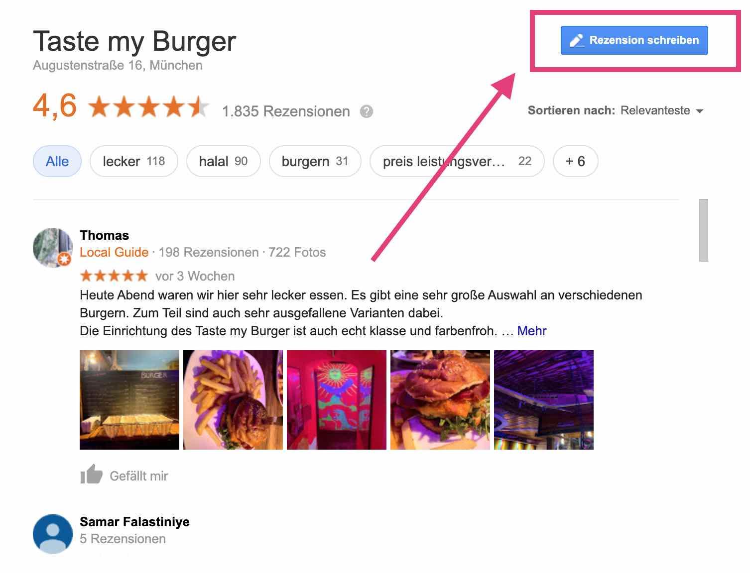 google-bewertung-schreiben-beispiel