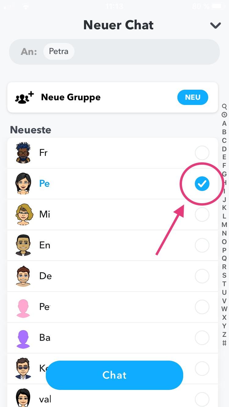 Snapchat Gruppe Freunde einladen