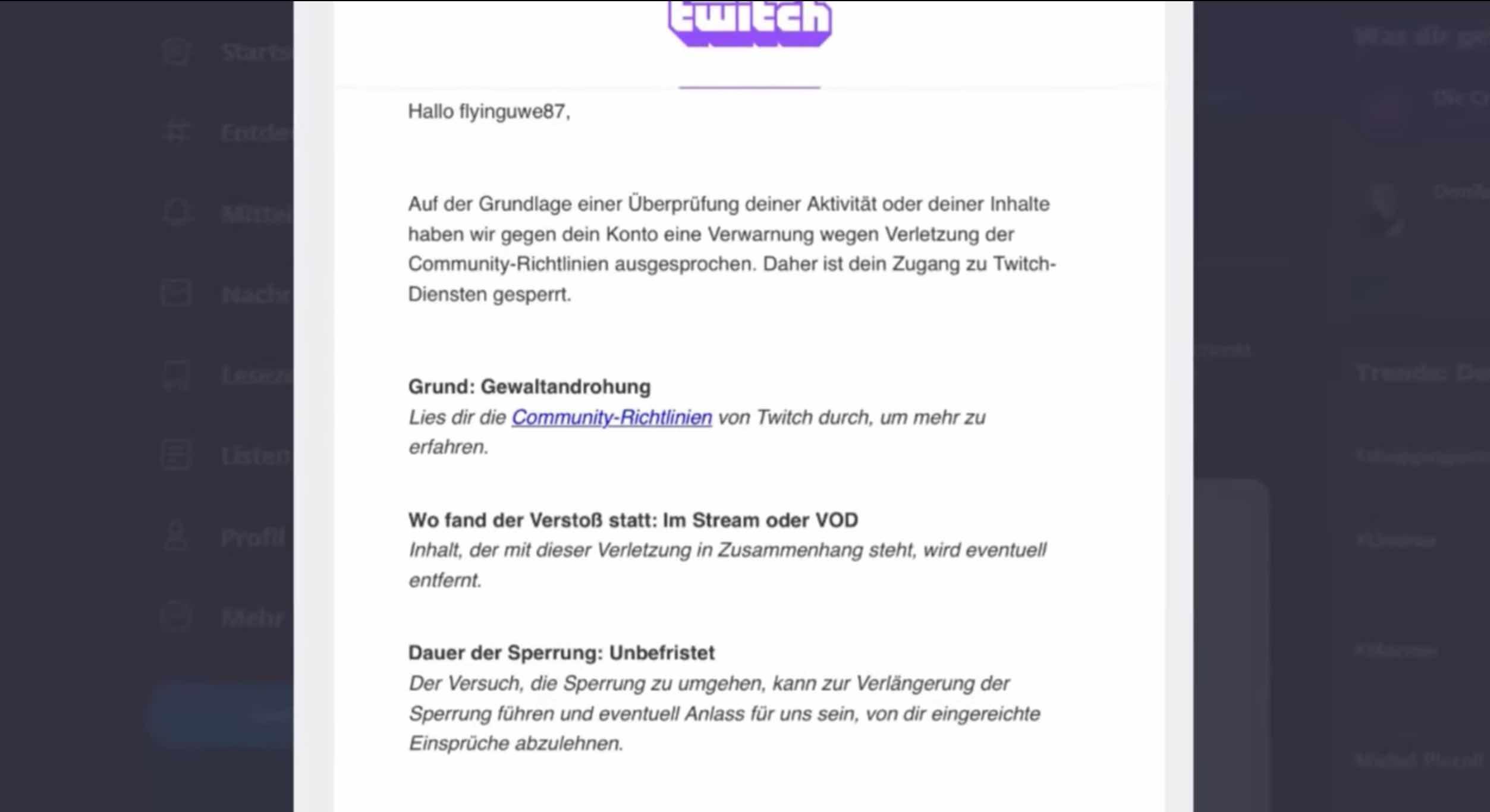 Flying Uwe erhält Ban auf Twitch.TV