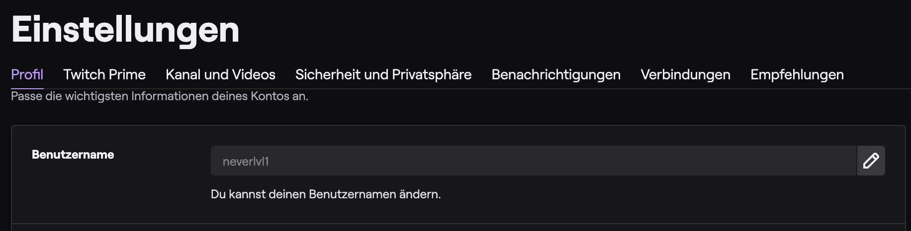 twitch-benutzername-ändern