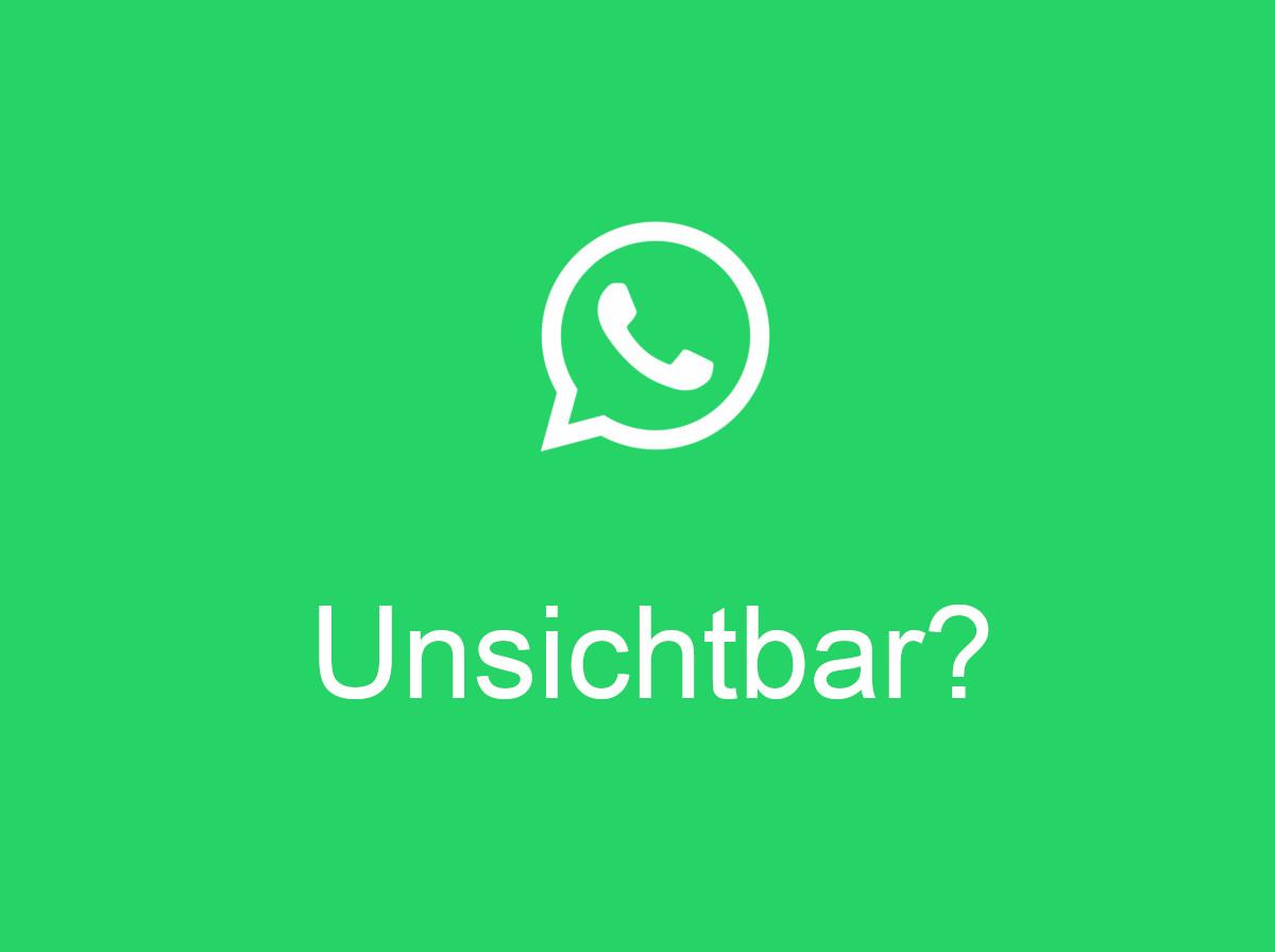 Whatsapp Unsichtbar Online