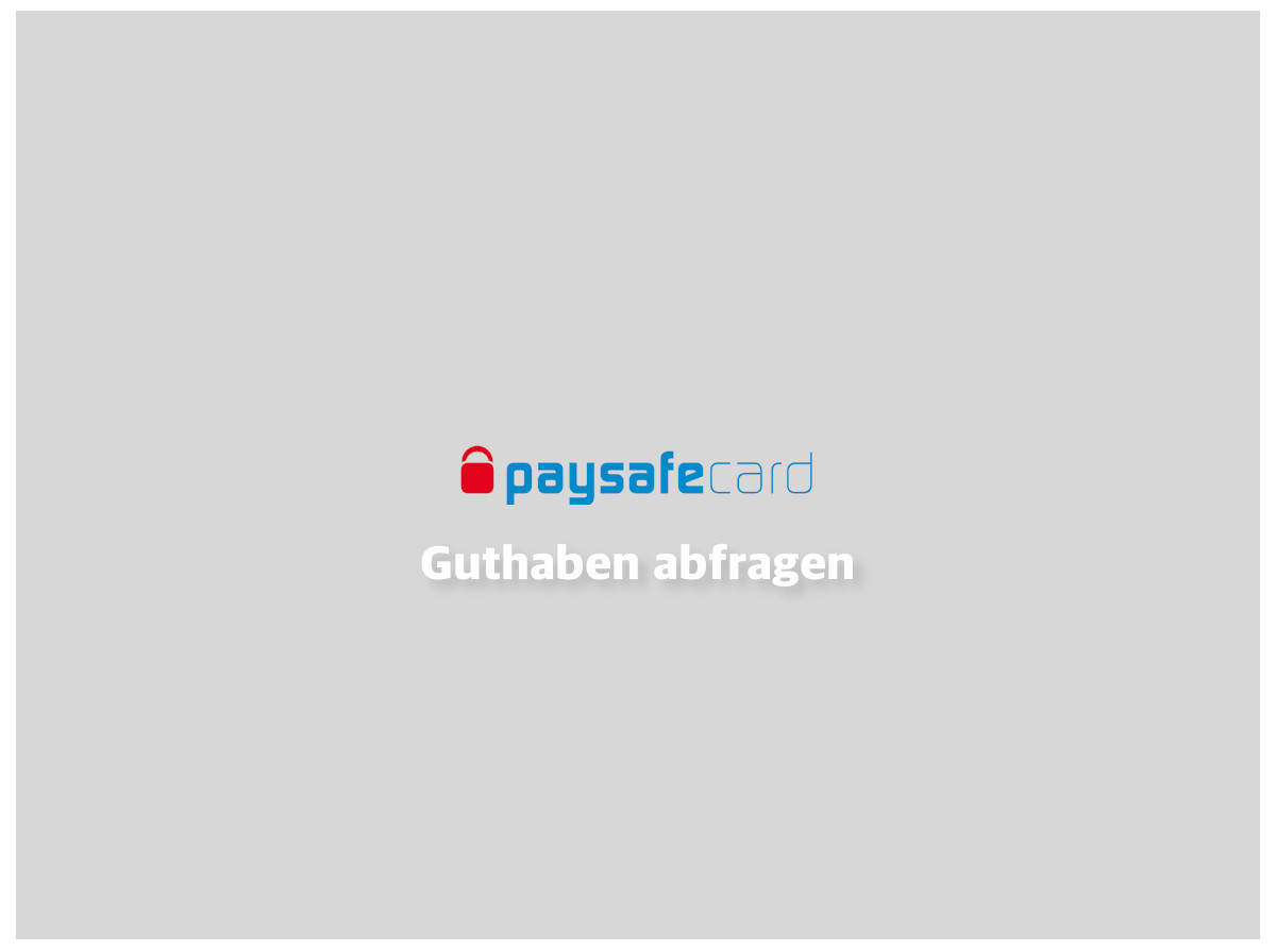 Www.Paysafecard.Com.De Guthaben-Abfragen