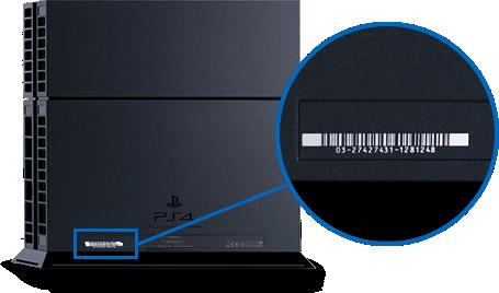 Seriennummer der Playstation 4 (PS4)