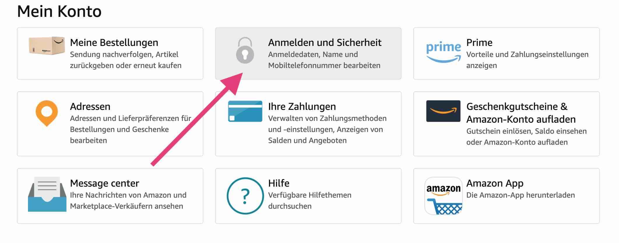 Amazon Telefonnummer ändern