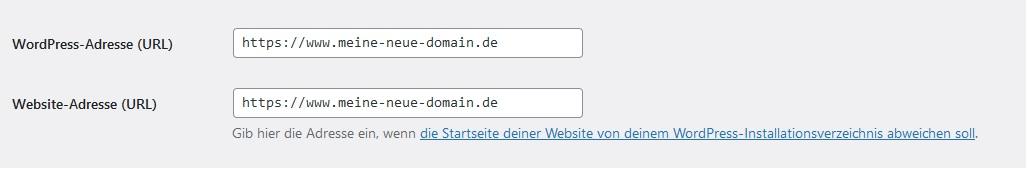 wordpress-domain-name-aendern